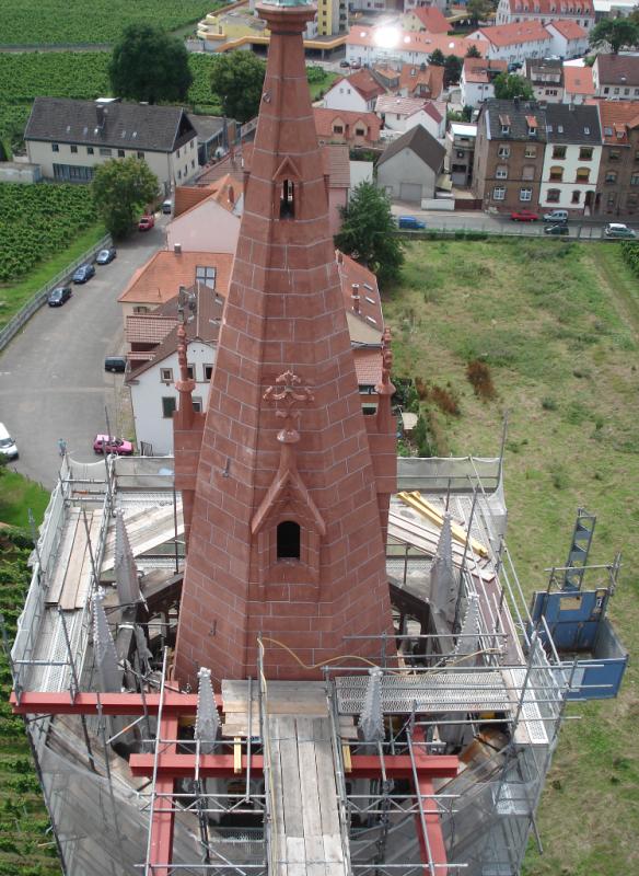 Worms, Liebfrauenkirche, Turmsanierung
